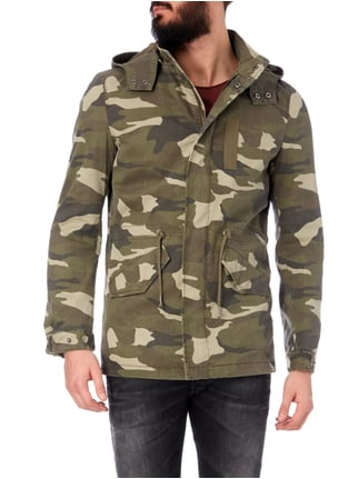 REVIEW Parka mit Camouflage-Muster Olivgrün - 1