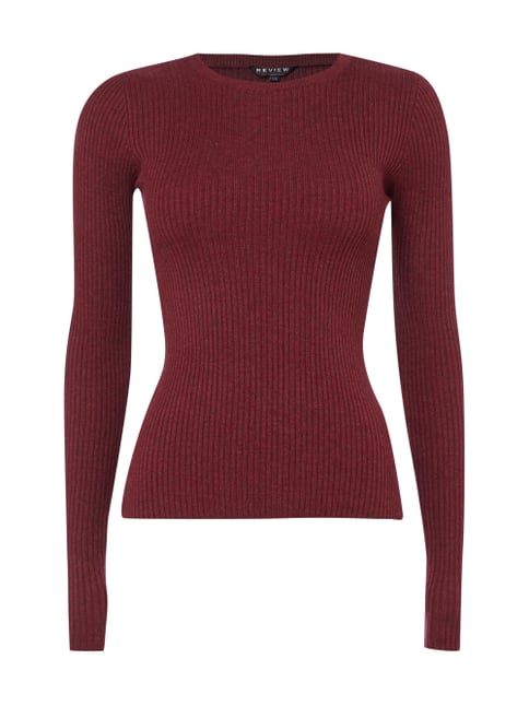 Pullover aus Rippenstrick Rot - 1