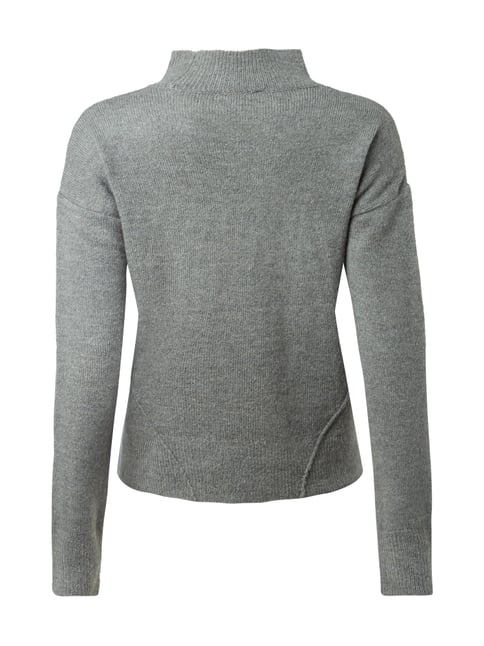 REVIEW Pullover mit Turtleneck Petrol meliert - 1