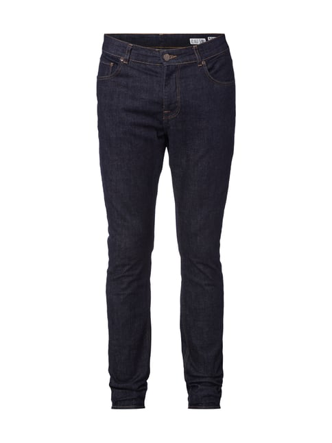 Rinsed Washed Jeans im Relaxed Skinny Fit Blau / Türkis - 1