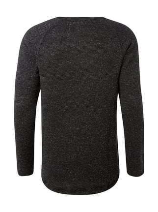 REVIEW Shirt aus Bouclé Anthrazit meliert - 1