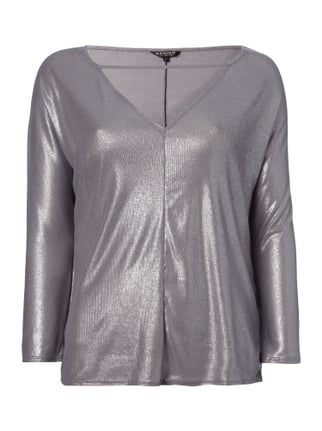 Shirt in Metallicoptik Grau / Schwarz - 1