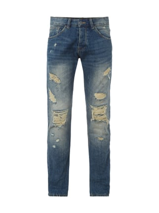 Slim Dirty Destroyed 5-Pocket-Jeans Blau / Türkis - 1