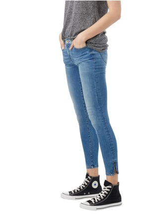 REVIEW Stone Washed Ankle Cut Jeans Blau - 1