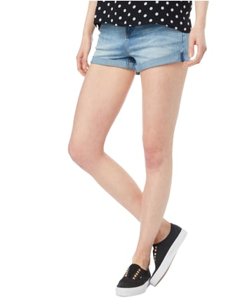 REVIEW Stone Washed Jeansshorts Blau - 1