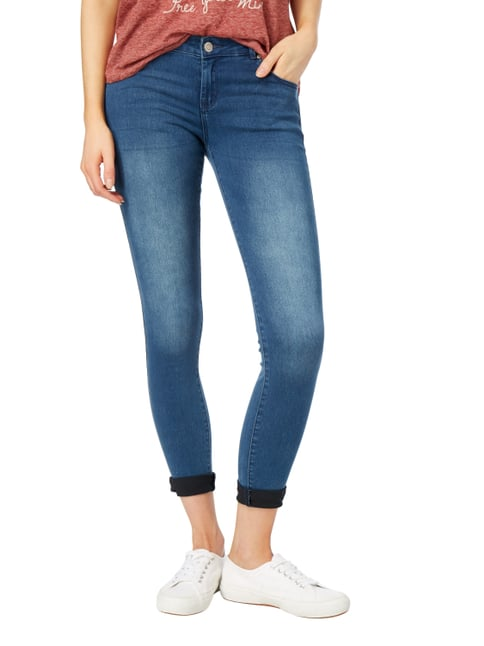 REVIEW Skinny Fit Jeans mit Stretch-Anteil Blau meliert - 1