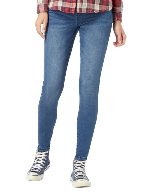 REVIEW Stone Washed Skinny Fit Jeans Bleu - 1