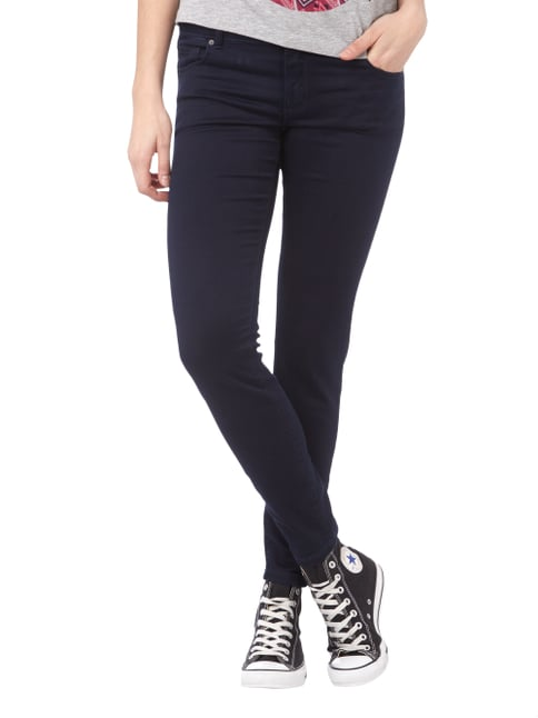 REVIEW Skinny Fit Jeans mit Stretch-Anteil Dunkelblau - 1
