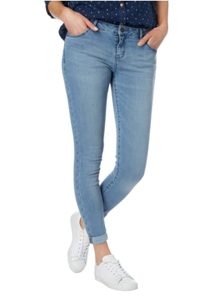 REVIEW Stone Washed Skinny Fit Jeans Hellblau - 1