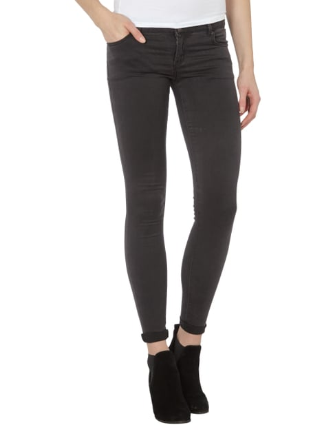 REVIEW Skinny Fit Jeans mit Stretch-Anteil Mittelgrau - 1