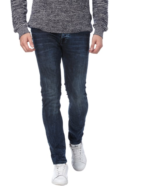 REVIEW Stone Washed Slim Fit Jeans mit Knopfleiste Jeans - 1