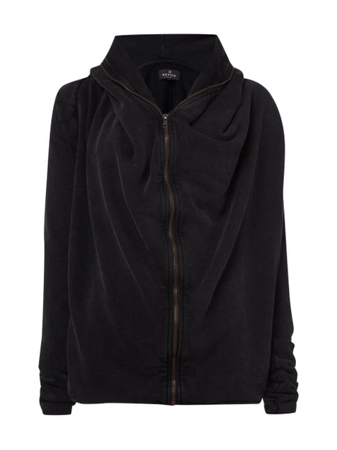 Sweatjacke im Washed Out Look Grau / Schwarz - 1