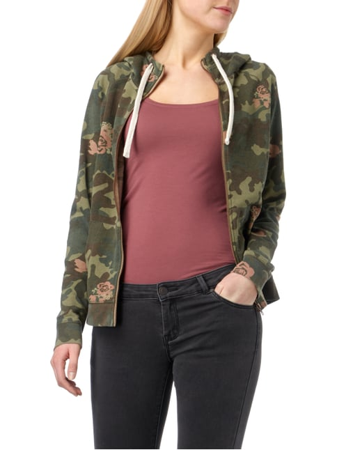 REVIEW Sweatjacke mit Camouflage-Muster Khaki - 1