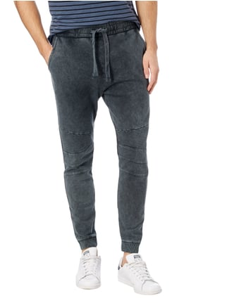 REVIEW Sweatpants im Biker-Look Schwarz - 1