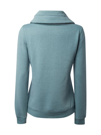 REVIEW Sweatshirt mit gemustertem Tube Collar Mint meliert - 1