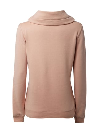 REVIEW Sweatshirt mit gemustertem Tube Collar Rosé meliert - 1