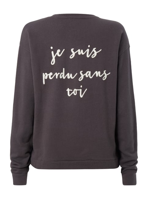 REVIEW Sweatshirt mit Message-Stickerei Anthrazit - 1