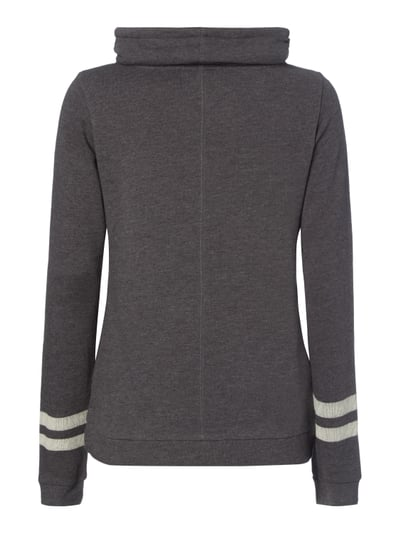 REVIEW Sweatshirt mit Tube Collar Anthrazit meliert - 1