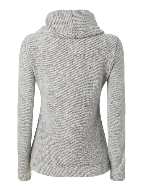 REVIEW Sweatshirt mit Tube Collar Offwhite meliert - 1