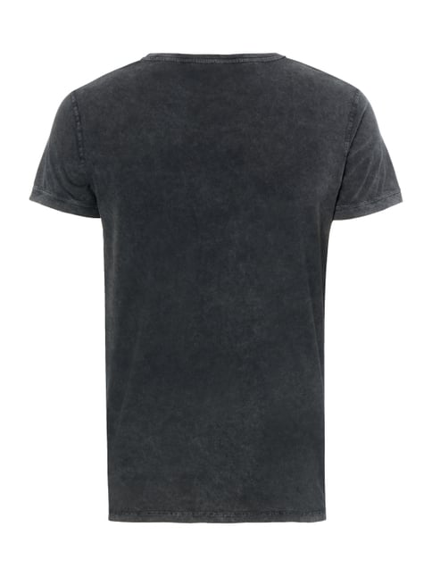 REVIEW T-Shirt im Washed Out Look Schwarz - 1