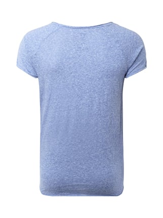 REVIEW T-Shirt in Melangeoptik Blau meliert - 1