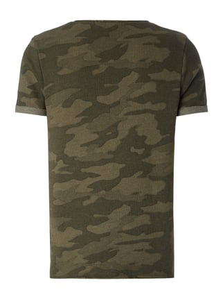 REVIEW T-Shirt mit Camouflage Khaki - 1