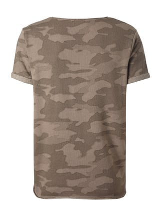 REVIEW T-Shirt mit Camouflage Taupe - 1