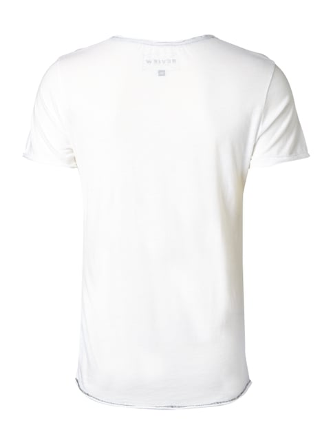 REVIEW T-Shirt mit Foto-Print Offwhite - 1