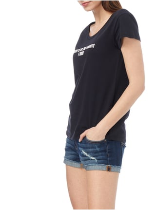 REVIEW T-Shirt mit Message-Print Anthrazit - 1