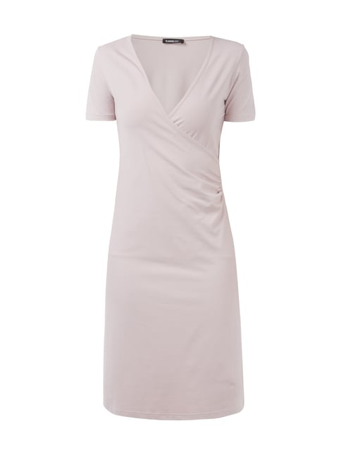 Kleid in Wickeloptik Rosé - 1