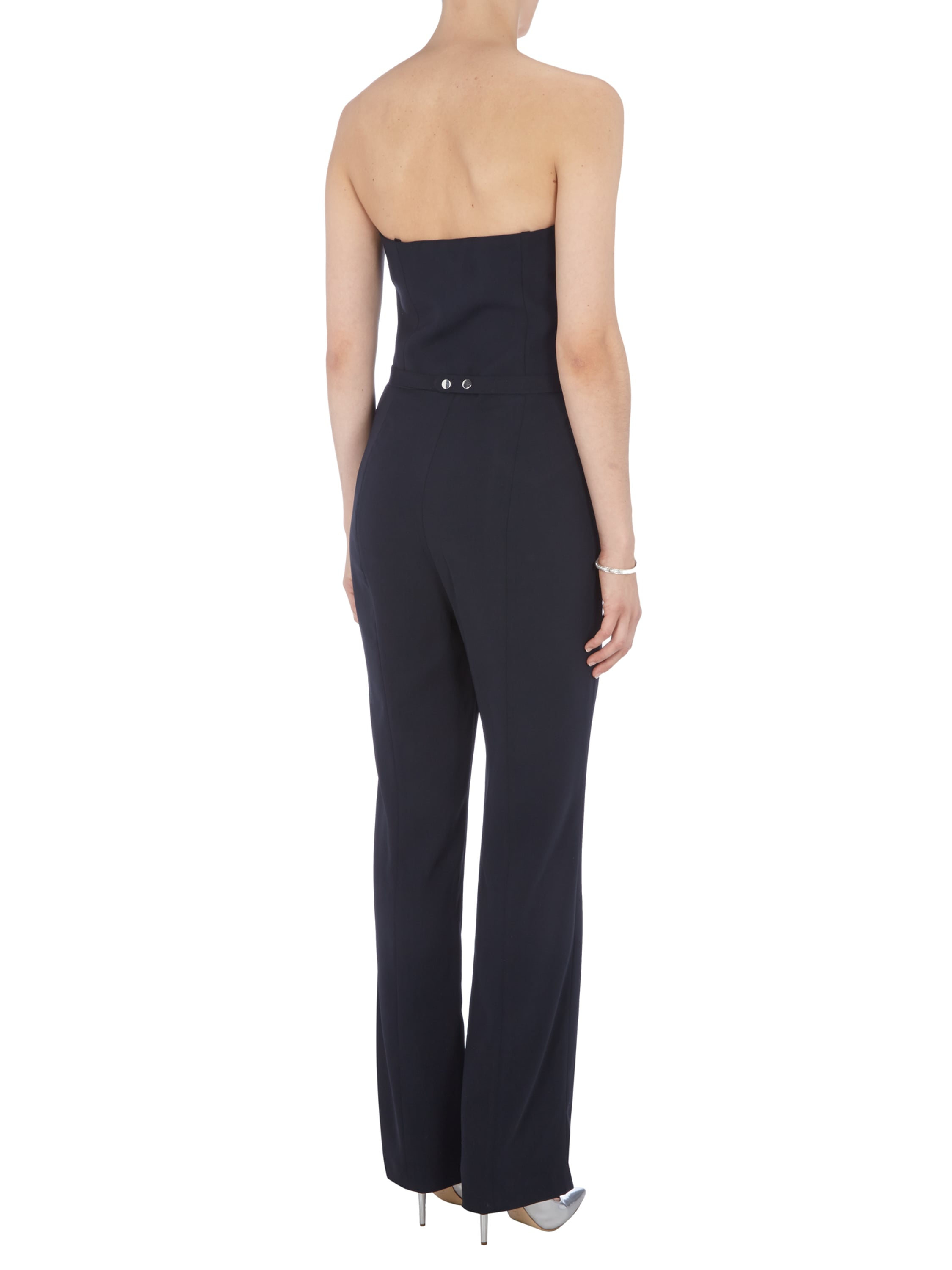 s oliver black label bandeau jumpsuit mit tailleng rtel in. Black Bedroom Furniture Sets. Home Design Ideas