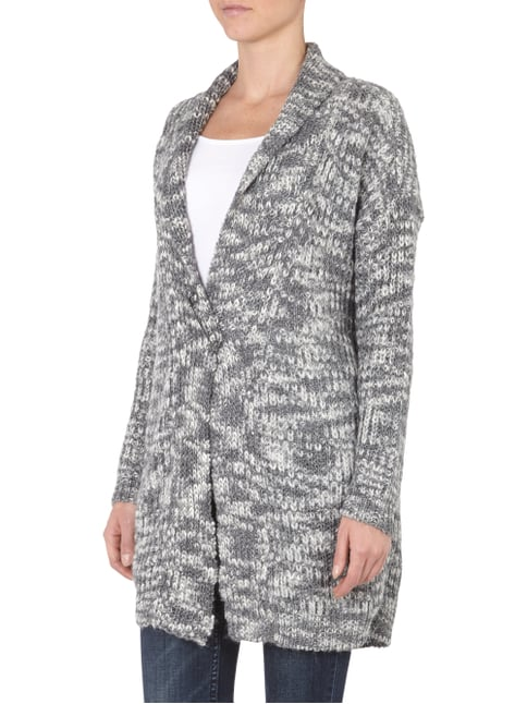 s.Oliver BLACK LABEL Cardigan in Melange-Optik Mittelgrau meliert - 1
