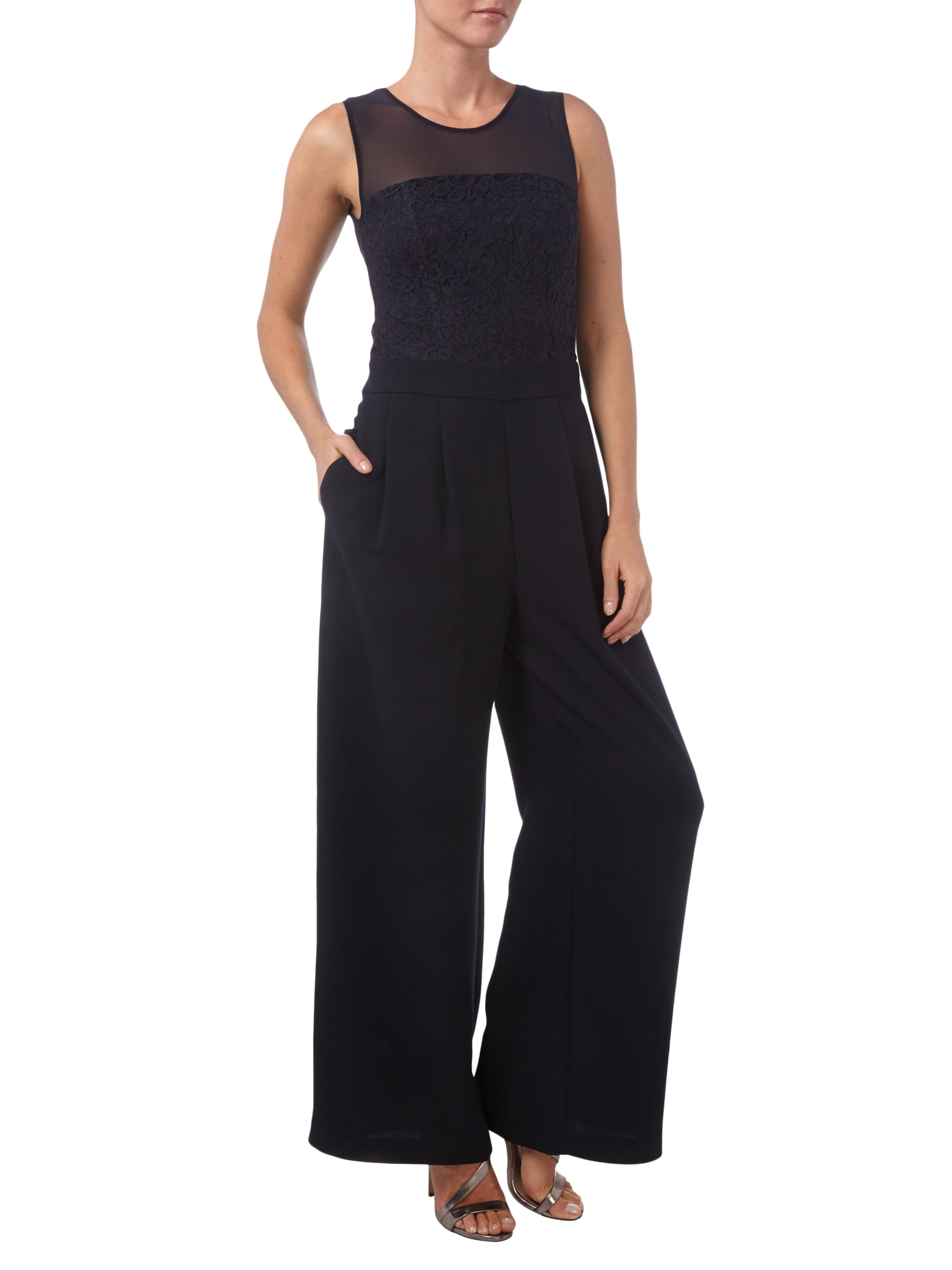 s oliver premium jumpsuit mit weit ausgestellter hose in. Black Bedroom Furniture Sets. Home Design Ideas