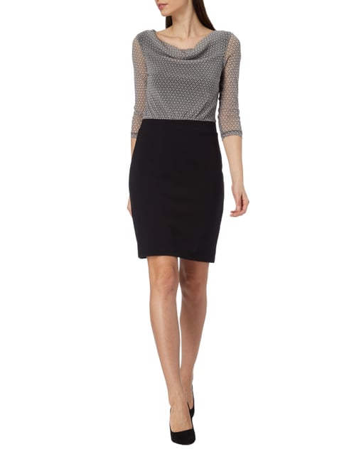 s.Oliver BLACK LABEL Kleid im Rock-Top-Look in Grau / Schwarz - 1