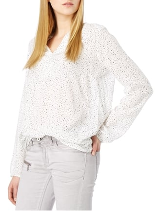 s.Oliver RED LABEL Blusenshirt mit Allover-Muster Offwhite - 1