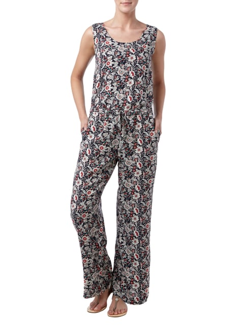 s.Oliver RED LABEL Jumpsuit mit floralem Muster in Blau / Türkis - 1