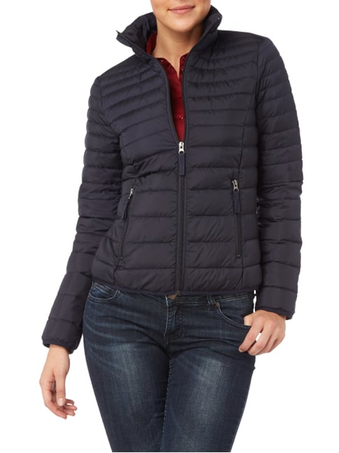 s.Oliver RED LABEL Light-Daunen Steppjacke mit Stehkragen Marineblau - 1
