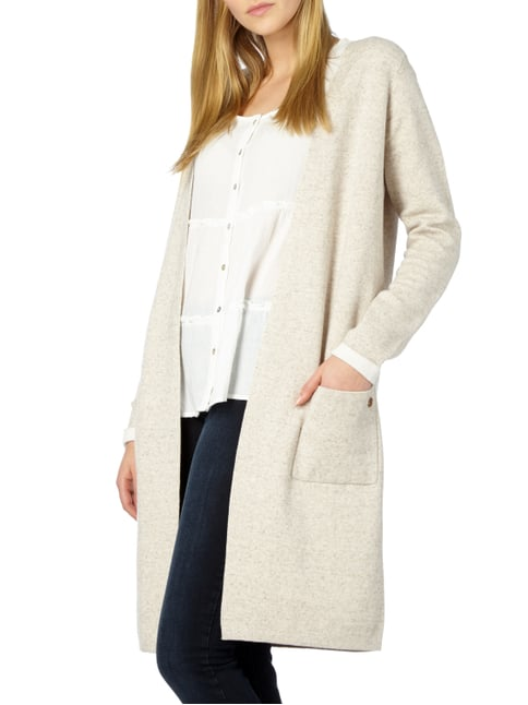 s.Oliver RED LABEL Longcardigan in Melangeoptik Taupe meliert - 1