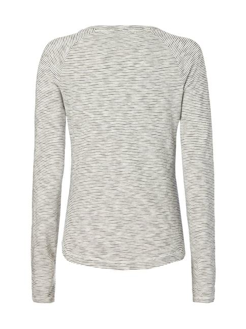 s.Oliver RED LABEL Longsleeve mit Streifenmuster Offwhite - 1