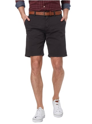 s.Oliver RED LABEL Loose Fit Chinoshorts mit Gürtel Anthrazit - 1