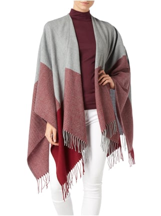 s.Oliver Poncho mit Fransenabschluss Rot - 1