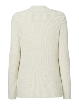 s.Oliver Pullover im Rippenstrick Offwhite meliert - 1