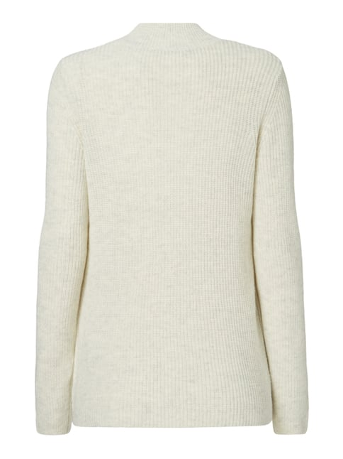 s.Oliver RED LABEL Pullover im Rippenstrick Offwhite meliert - 1