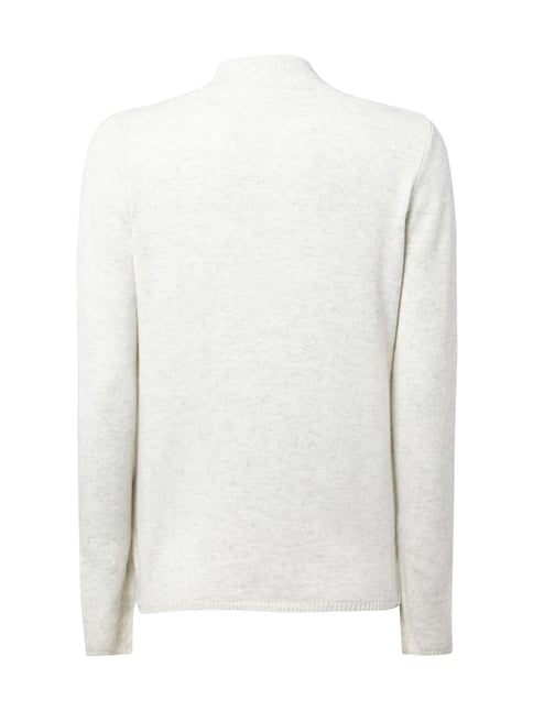 s.Oliver RED LABEL Pullover mit Zopfstrick Offwhite meliert - 1