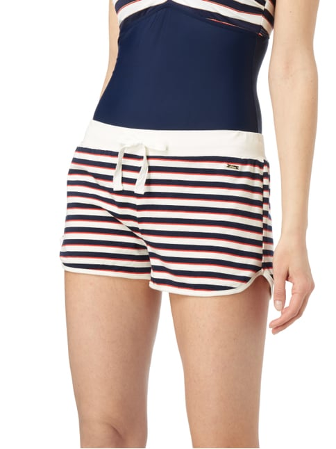 s.Oliver RED LABEL Shorts mit Streifenmuster Marineblau - 1