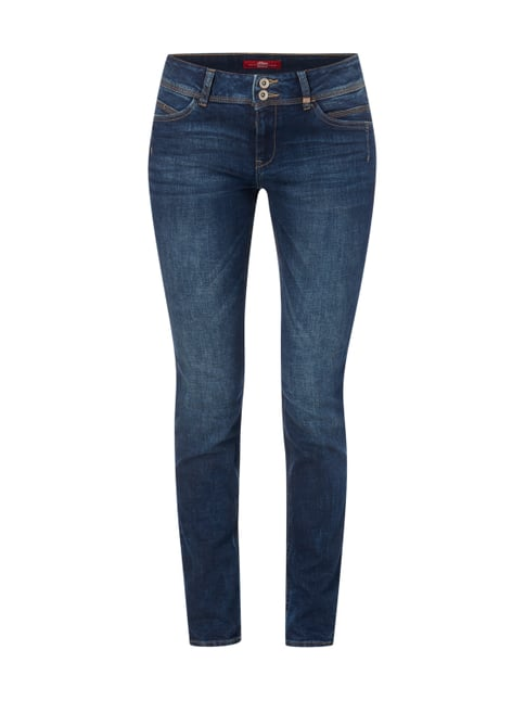 Stone Washed Shape Slim Fit Jeans Blau / Türkis - 1