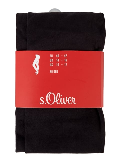 Strumpfhose in matter Optik - 80 DEN s.Oliver RED LABEL online kaufen - 1