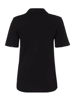 s.Oliver RED LABEL T-Shirt mit Umlegekragen Schwarz - 1