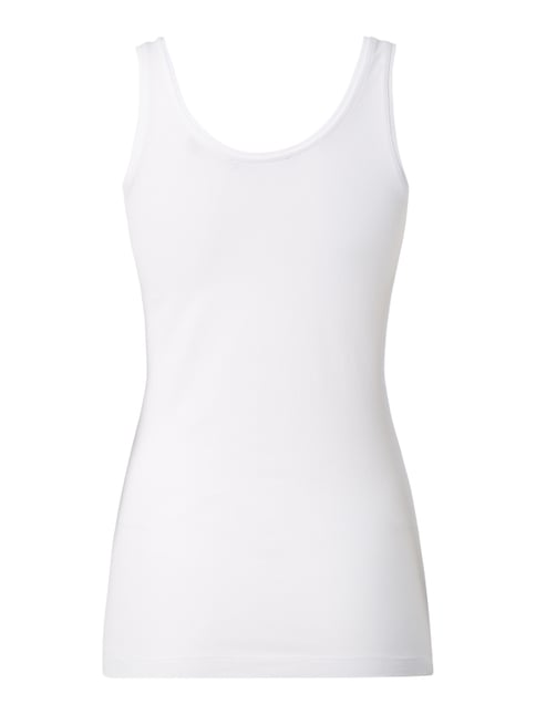 s.Oliver RED LABEL Tanktop mit Stretch-Anteil Weiß - 1
