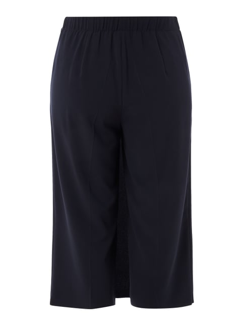 Samoon PLUS SIZE - Culotte in Wickeloptik Marineblau - 1